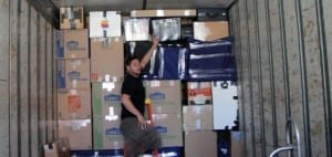 Image: Maya Van Lines mover tightly packs a moving truck - Maya Van Lines Moving Company, Atlanta GA